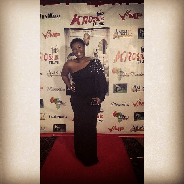 Uche Jombo at the premiere of New Movie The Other Side