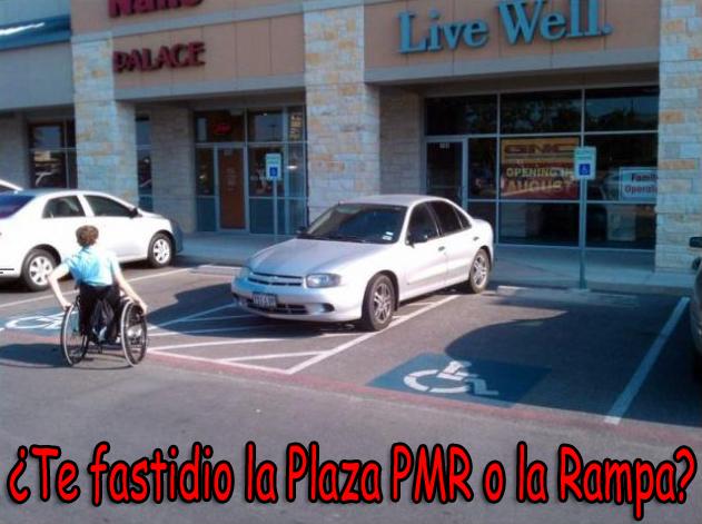 ¿Te fastidio la Plaza PMR o la Rampa?