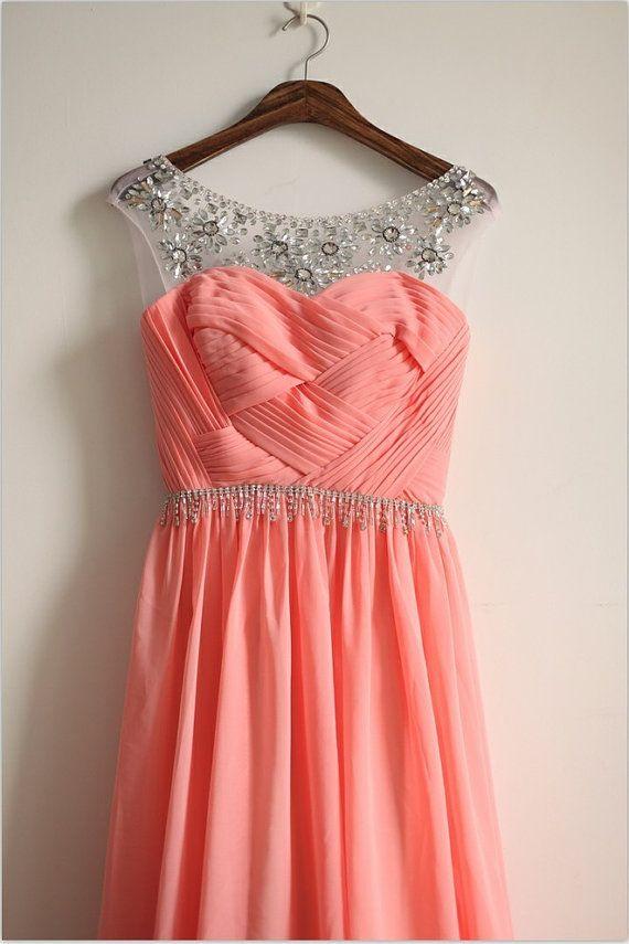 Mostly Desired Coral Pink Bridesmaid Dresses | bridal dresses