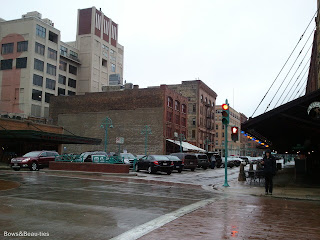 Historic Third Ward, Milwaukee, rain, out and about