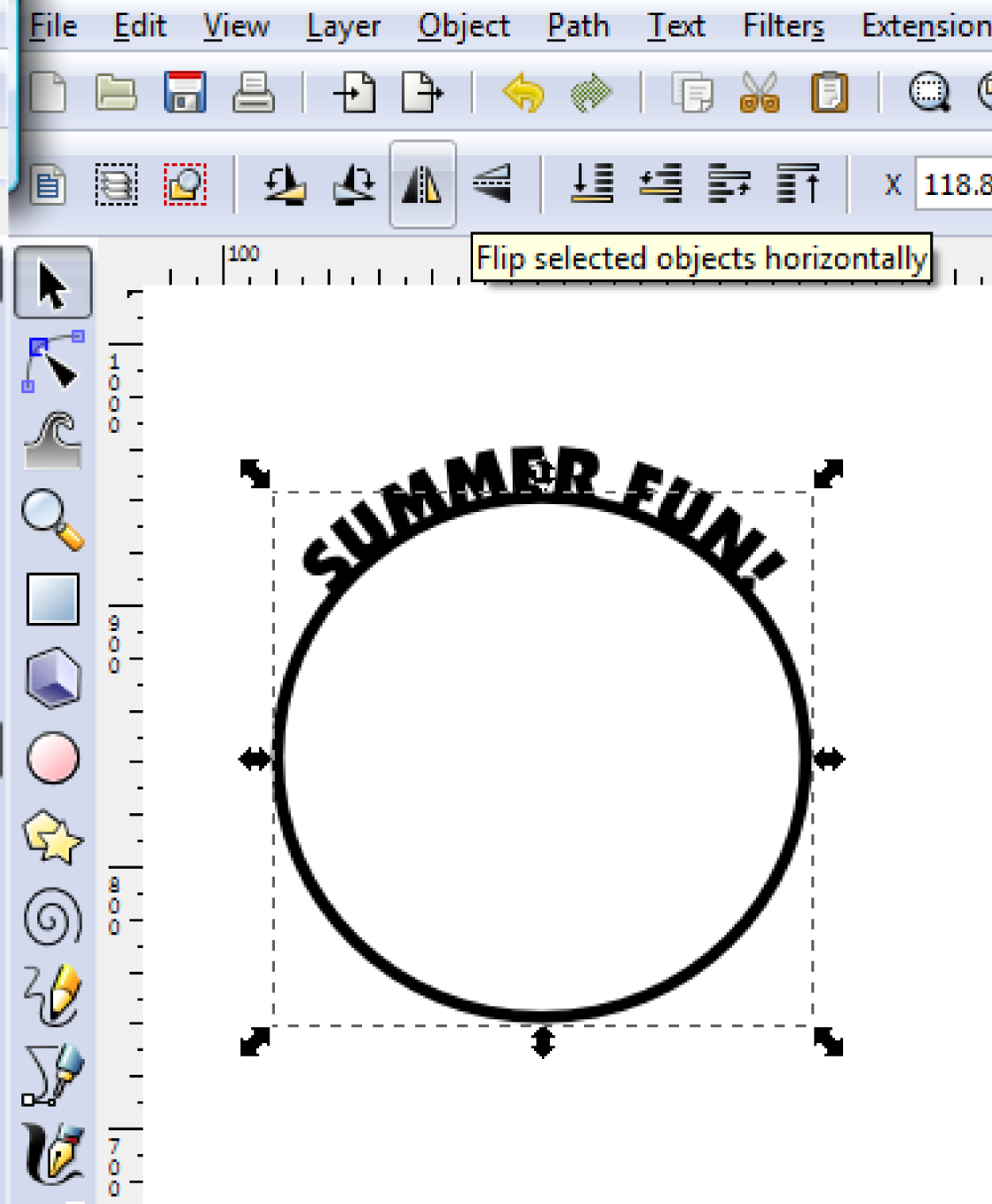 how to put text over circle path in illustrator