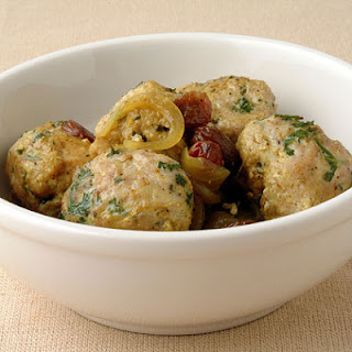 Turkey Kefta With Sweet Onion And Raisin Sauce Recipe