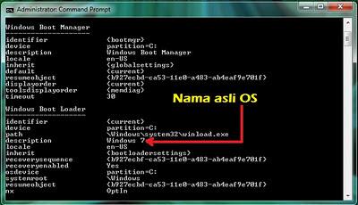 Cara Rename Nama Sistem Operasi Pada Windows Boot Manager