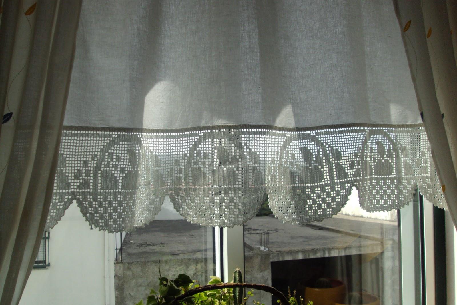 Cortina De Cozinha De Croche Veja Nossa Seleo Com Cortinas De Croch