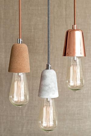 lampara bombillas cobre
