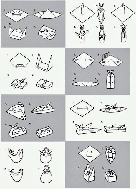 plantilla instrucciones envolver regalos de una forma original y divertida furoshiki