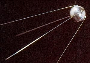 Un modello del satellite Sputnik 1.