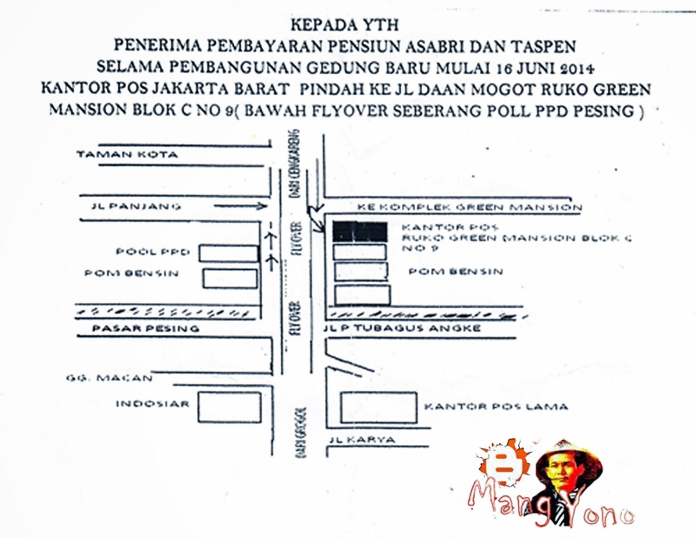 Alamat baru Kantor POS INDONESIA Jakarta Barat