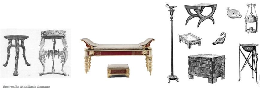 Edad antigua roma historia del mueble for Epoca muebles