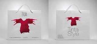 Bolsas o embalajes de papel  de lujo, con clase, etiqueta, bonitas para boutique  Tinta Style imagen de marca tienda ropa mujer camisetas y moda