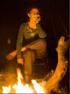 Zombie stories around campfire