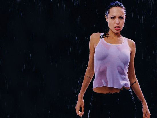 Angelina jolie Rain Wallpaper