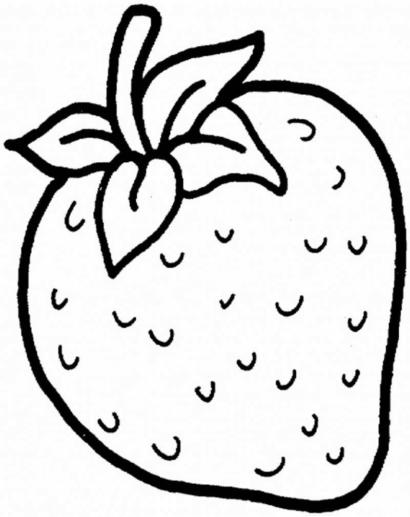 Mewarnai Gambar Strawberry Ayomewarnai 28 Kartun