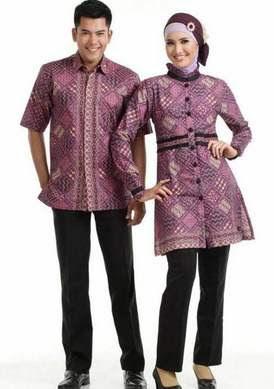 Baju Batik Muslim Sarimbit untuk Lebaran Terbaru