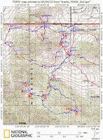 Black Rock Canyon Topo map with waypoints, Joshua Tree National Park