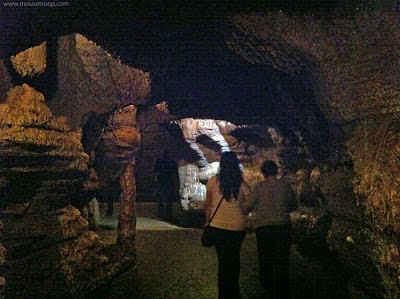 Indiana Jones Adventure Disneyland Temple exit path cave bats