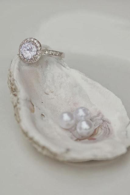 white shell and diamonds! ;)