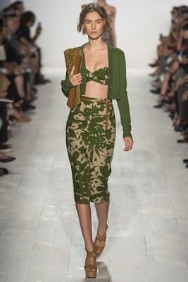 michael kors, new york fashion week, spring summer 2014, crop top, midi skirt, new york fashion week, spring summer 2014, ss 14, nyfw