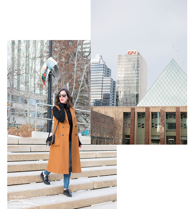 How to style a long line vest via Adventures in Fashion