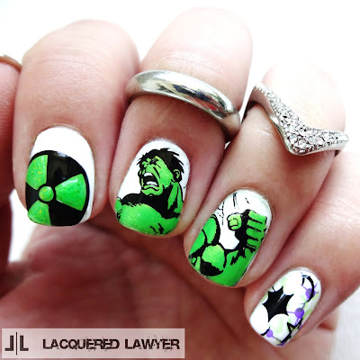 The Incredible Hulk Nail Art