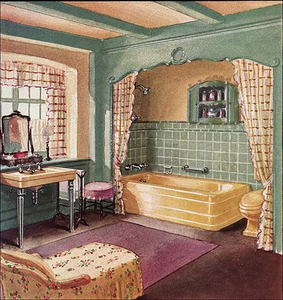 Art wall decor bathroom artwork vintage bathroom art for 1930s interior decoration