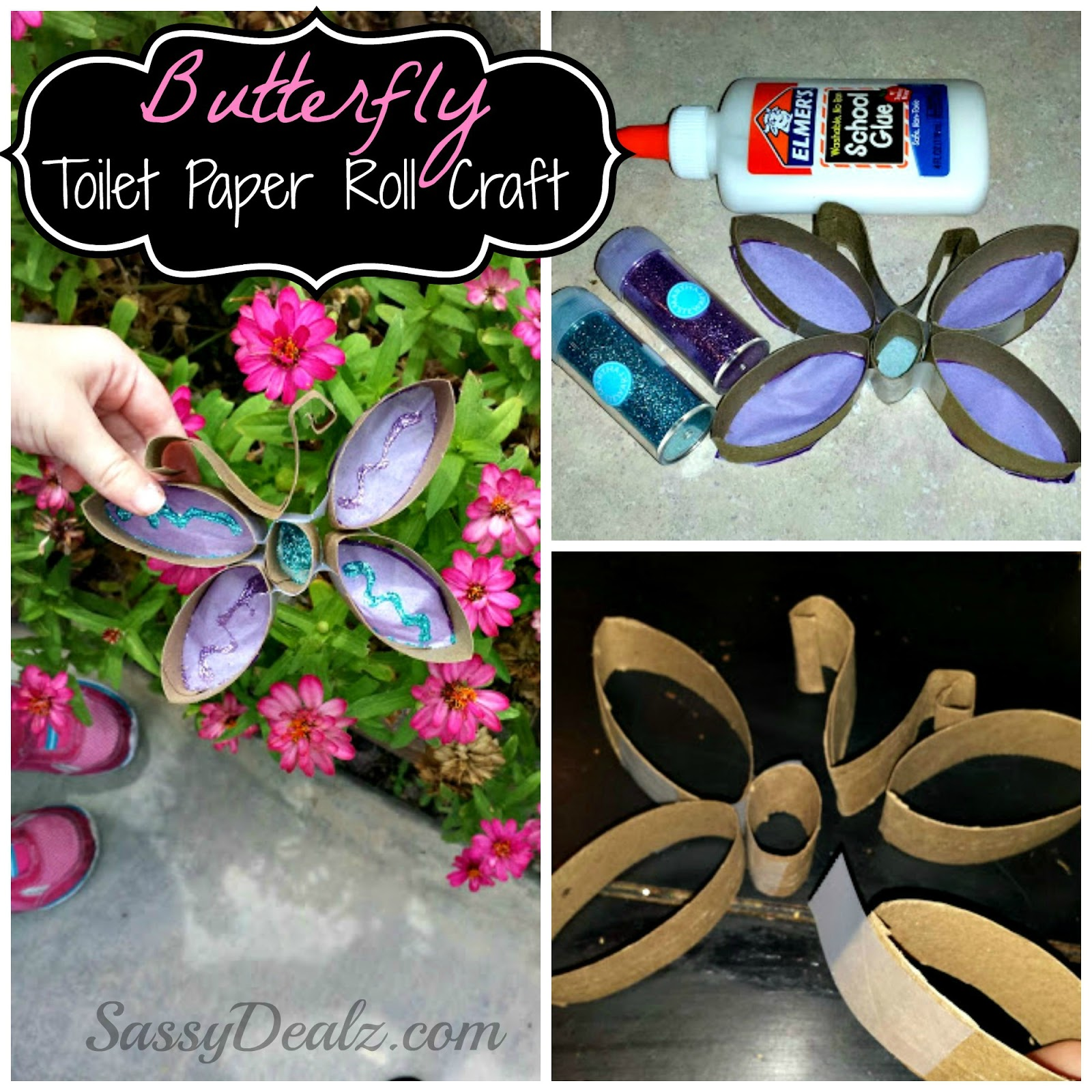 Papermania craft tote - Craft Ideas With Toilet Rolls Butterfly Toilet Paper Roll Craft For Kids