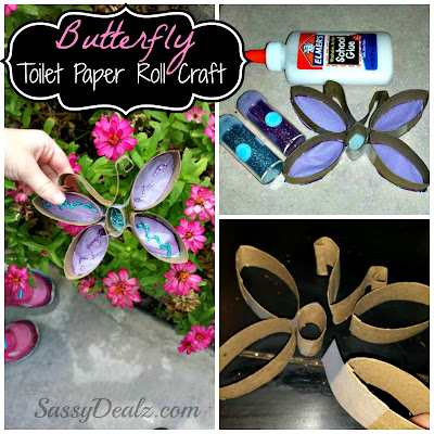 butterfly toilet paper roll craft for kids