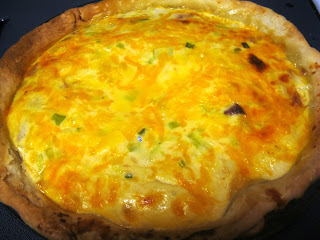 freezer meals: ham and cheese quiche