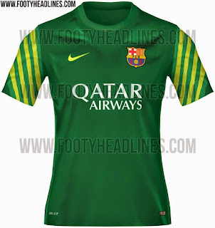 gambar photo Jersey keeper Barcelona warna hijau terbaru musim 2015/2016