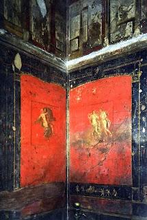 Casa de los Vetii. 11. Triclinium (Sala de los Cupidos; entrada desde corredor derecho del peristilo) - Detalle del interior