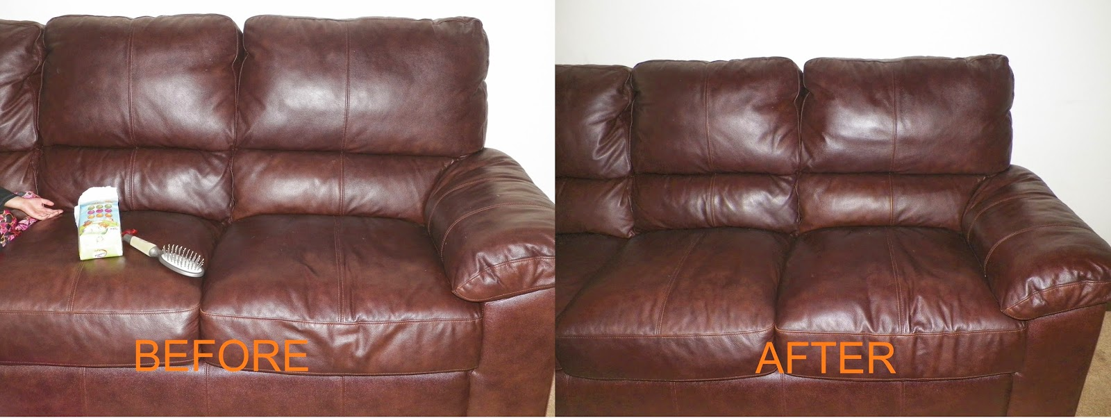 After Applying The Leather Milk On Our Sofa, The End Effect After Buffing  Was Amazing. I Had Forgotten How Our Sofa Used To Look Like And The  Chamberlainu0027s ...