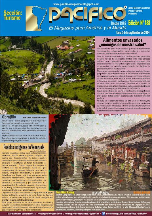 Revista Pacífico  Nº 188 Turismo