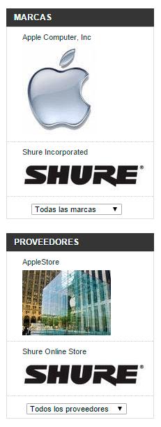 Logos de marca del bloque fabricantes y proveedores de Prestashop 1.5