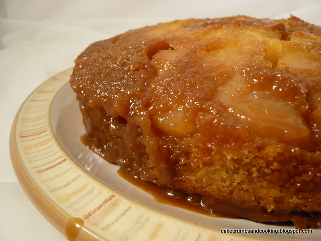 Cake, Crumbs and Cooking: Caramel apple upside down cake