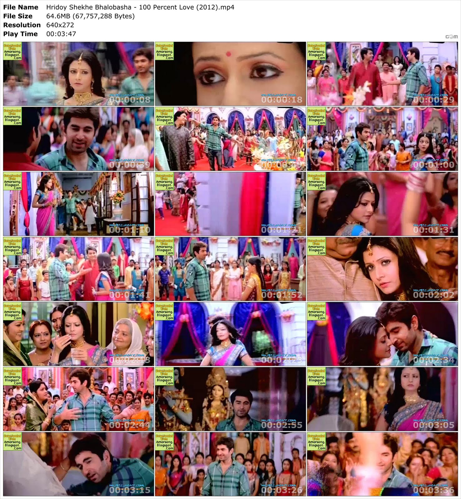 Hridoy Shekhe Bhalobasha - 100 Percent Love (2012) HD Video Download