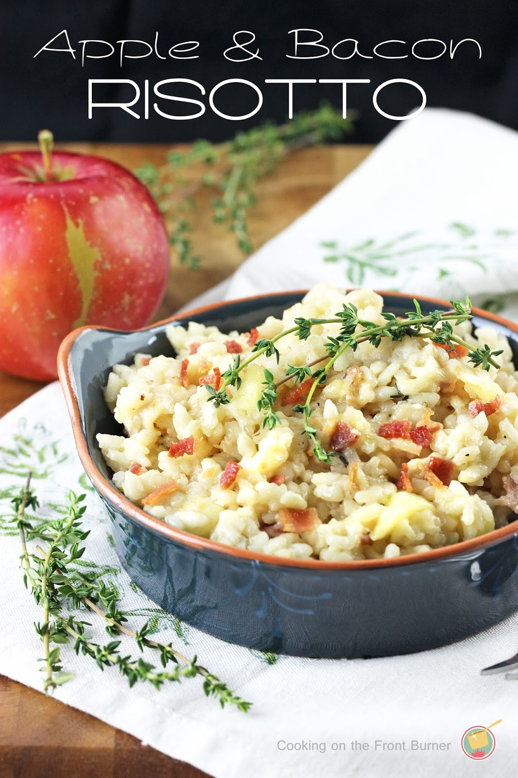 Apple, Bacon and Thyme Risotto | Cooking on the Front Burner