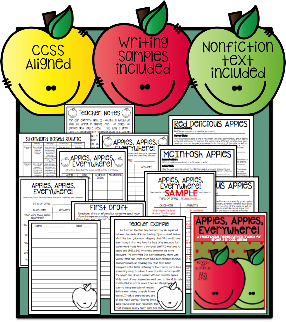 http://www.teacherspayteachers.com/Product/An-apple-researchable-readingwriting-project-for-grades-3-5-CCSS-Aligned-1445197
