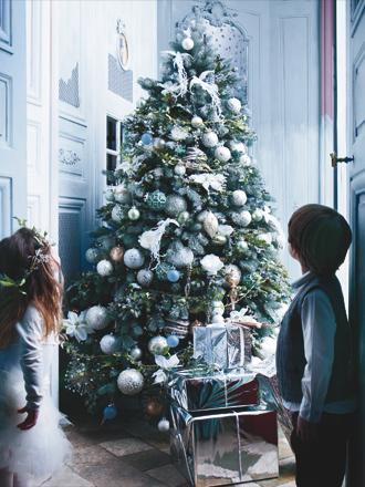 decoración navideña en turquesa