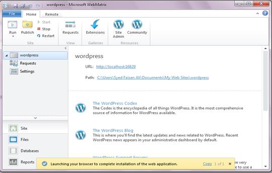 Admin Area Microsoft Platform Installer