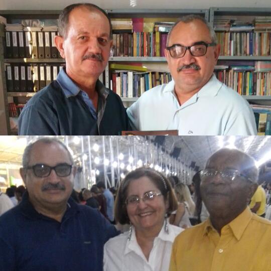 Pr. Paulo Roberto em nossa casa (Assembléia de Deus) e o Rev. Anselmo e a irmã Aldenisa.
