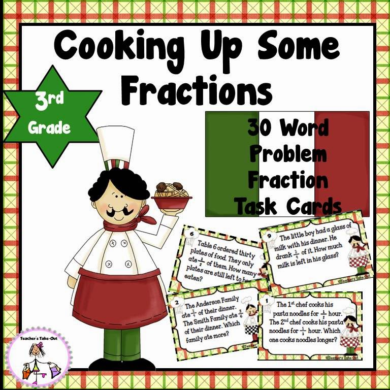 Cooking Up Some Fractions - Word Problem Task Cards