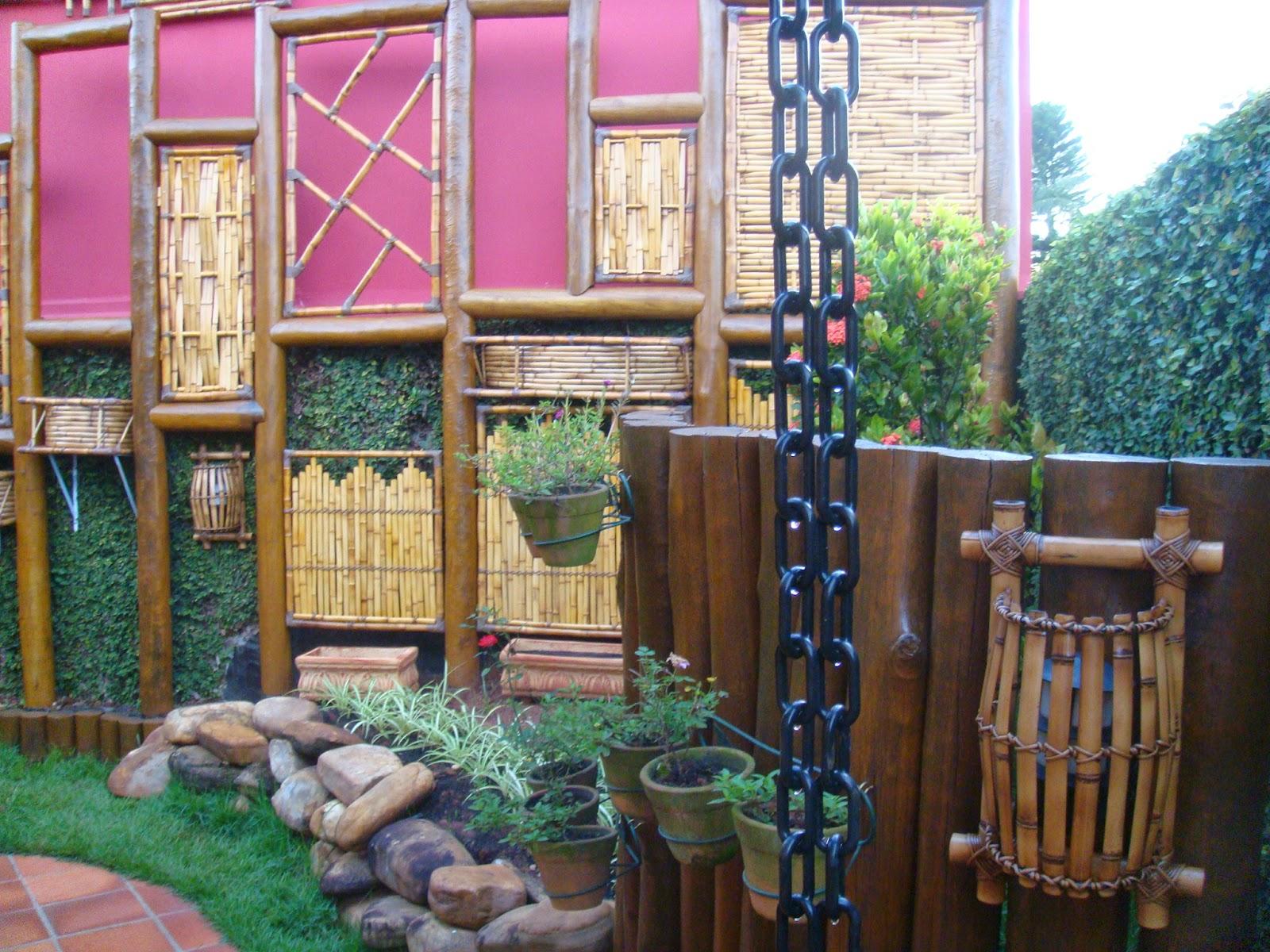 jardim vertical bambu:Arte em Bambu: Jardim Vertical em Bambu