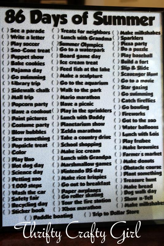 Summer dating bucket list