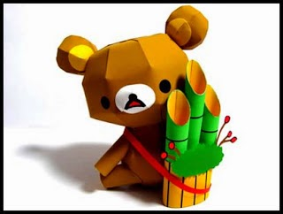 Relax Bear (Rilakkuma) Papercraft