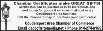 Coudersport Chamber of Commerce ad