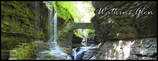 Beautiful Rainbow Falls Watkins Glen, New York