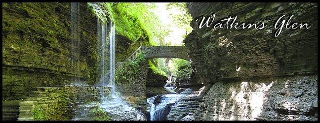 Beautiful Rainbow Falls Watkins Glen, New York