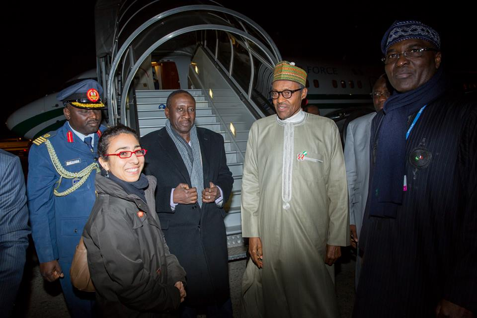 Photos: Pres. Buhari Arrives Paris Ahead Of UN Climate Change Conference