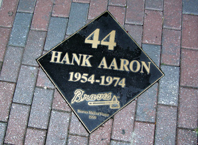 Hank Aaron's marker at the Braves Hall of Fame