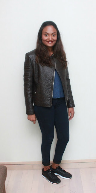 A pair of Skinny Jeans & A Leather Jacket
